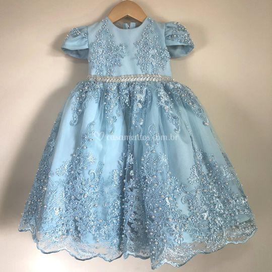 Vestido royal azu
