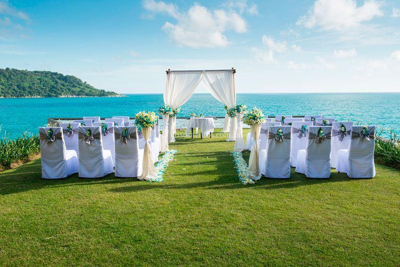 Casamento a beira da praia