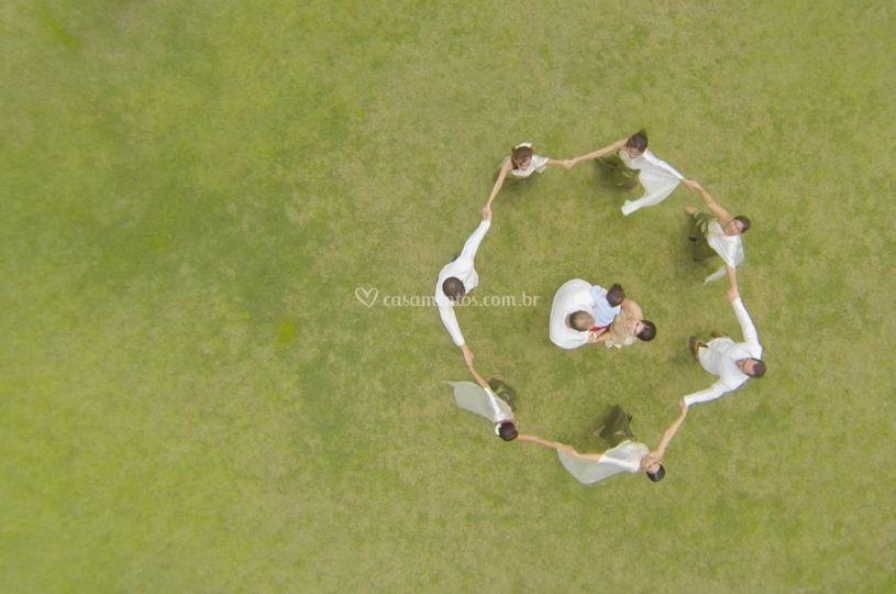Foto aérea de pessoas