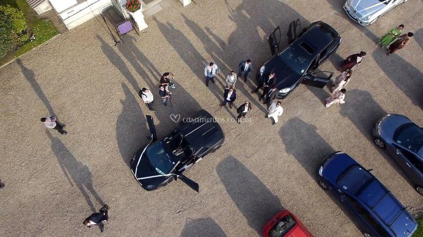 Foto da chegada da noiva