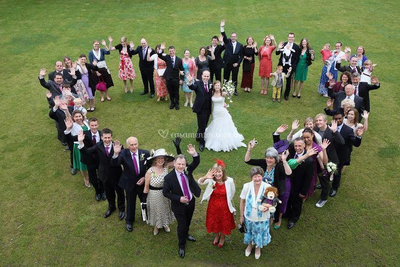 Foto aérea de casamento