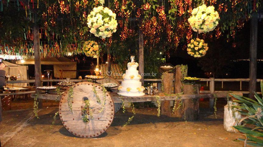 Mesa de bolo diferente