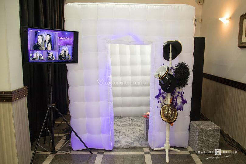 Cabine de fotos inflável