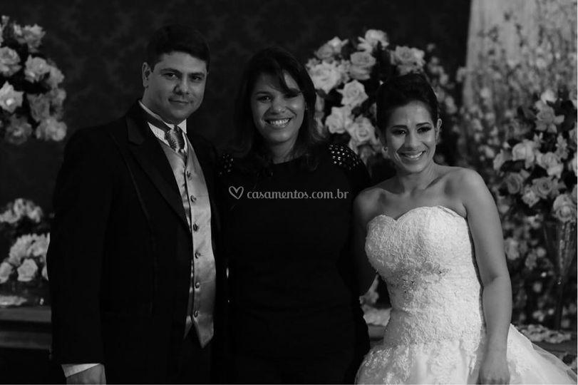 Noivos Ana e Douglas