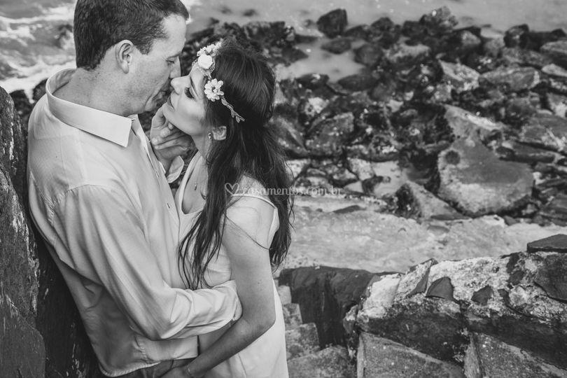 Pré-casamento na praia
