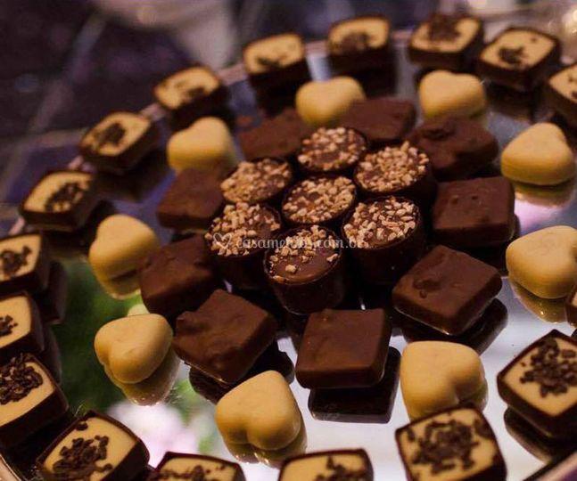 Mesa de chocolates premium