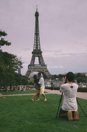Gravação em Paris