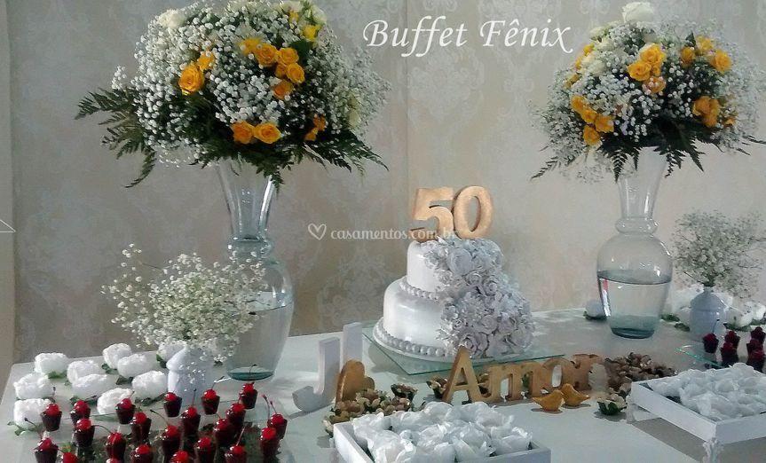 Decorações para bodas de Ouro