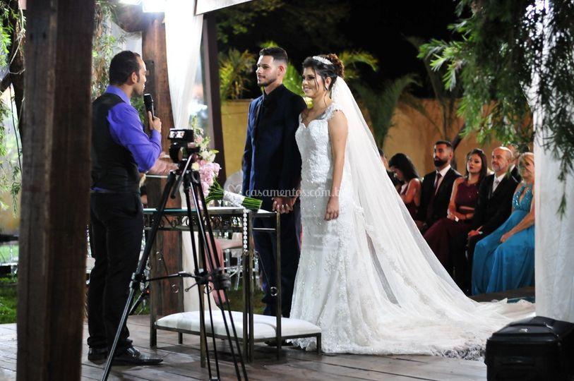 Noivos Gustavo e Nathalya