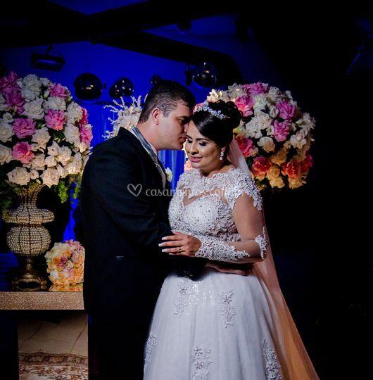 Ensaio do casal após cerimônia