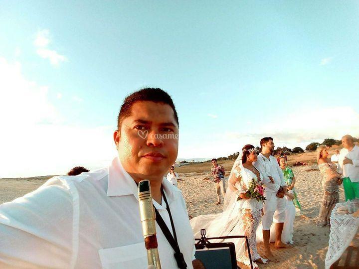 Casamento na praia de Jeri