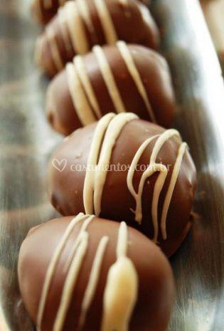 Doces de chocolate