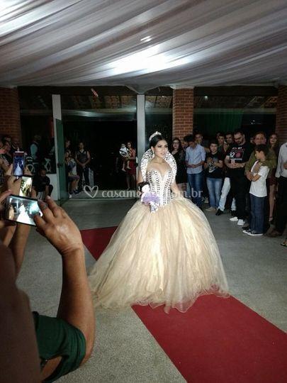 A entrada da princesa