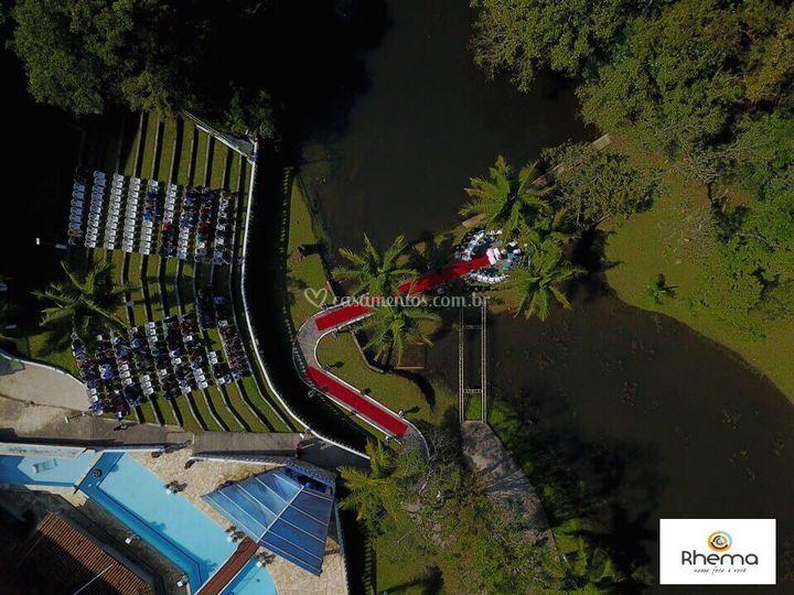 Imagem aerea do Altar da Ilha