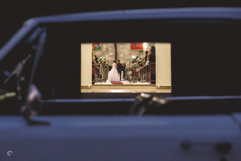 Noivos no altar