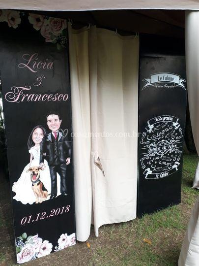 Cabine personalizada casamento