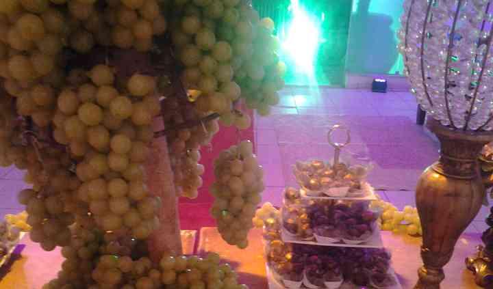 Muitas uvas na decoração
