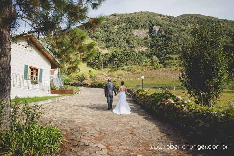Chalés para noivos e convidado