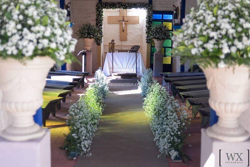 Casameno na capela