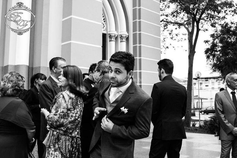 Noivo esperando a noiva