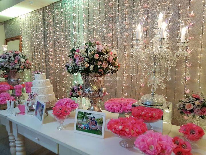 Mesa de doces decorada