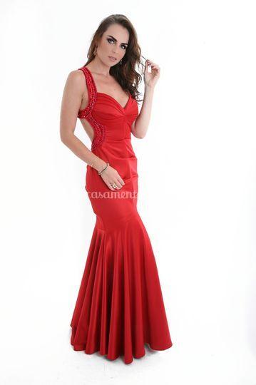 Vestido vermelho  madrinha