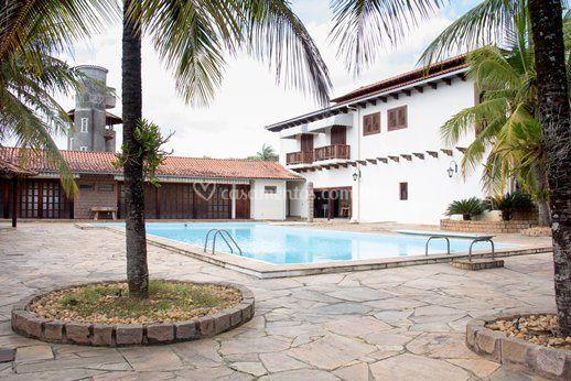 Salão de festa, piscina