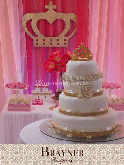 Salão de bolos e jantares
