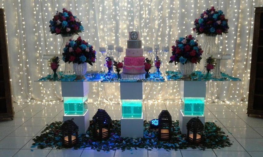 Mesa do bolo aquário