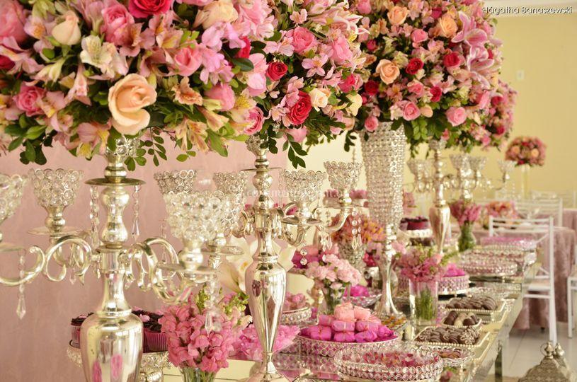 Espelhado - nude e rosa