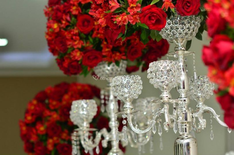 Casamento vermelho espelhado
