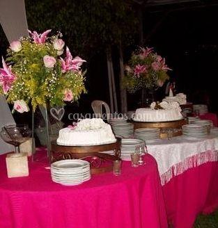 Toalhas para mesas de bolos