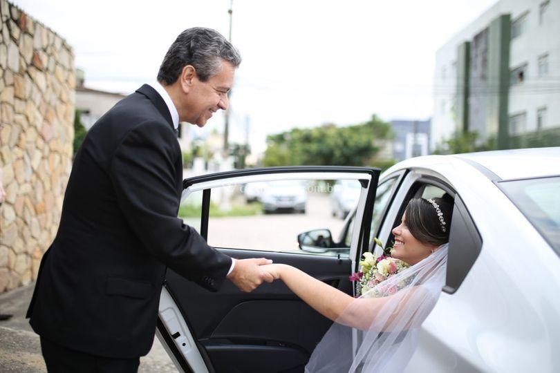 Chegada da noiva Danielle