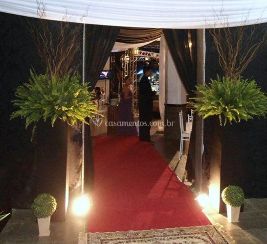 A iluminação da entrada
