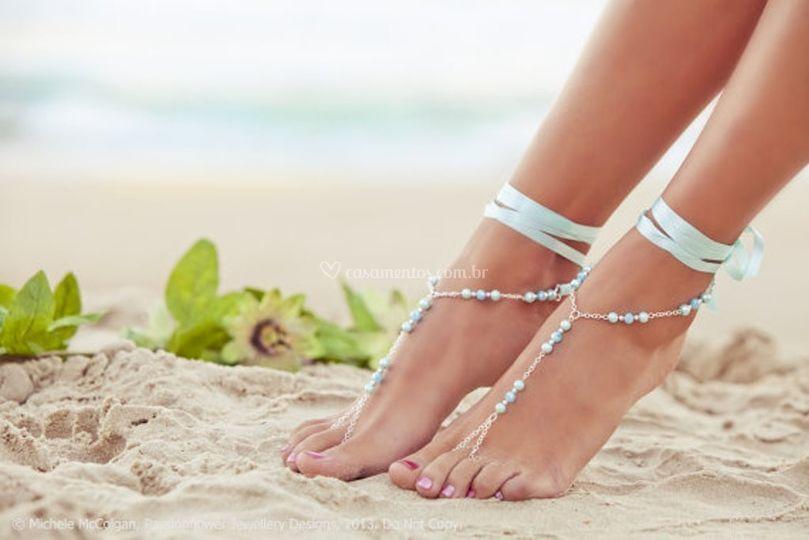 Sandália pés descalço