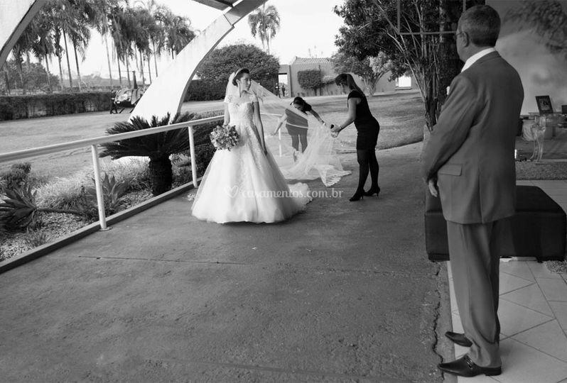 Preparando entrada da noiva