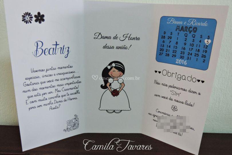 Convite dama