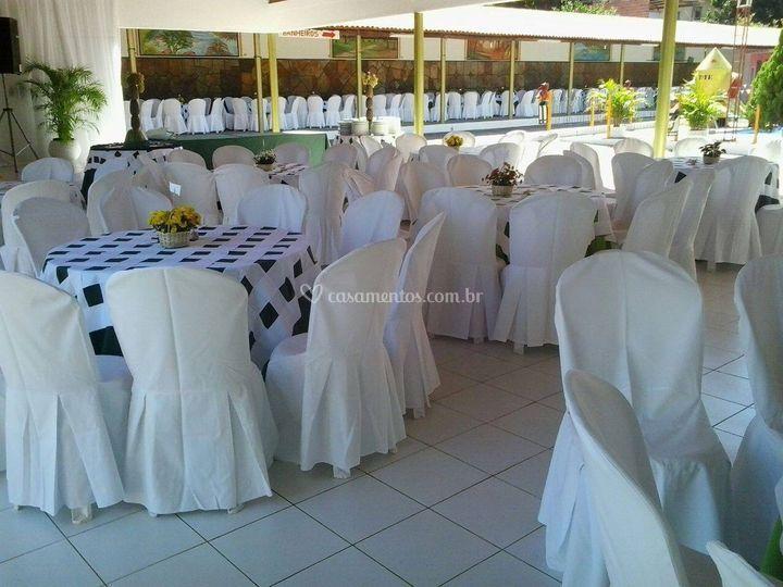 Espaço para mesas
