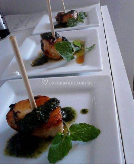 Atraentes e deliciosos pratos