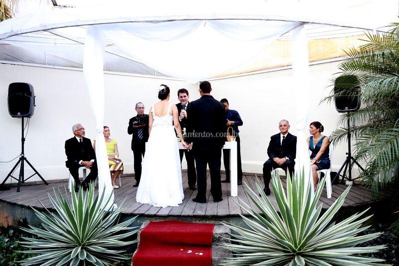 Cerimônia no local