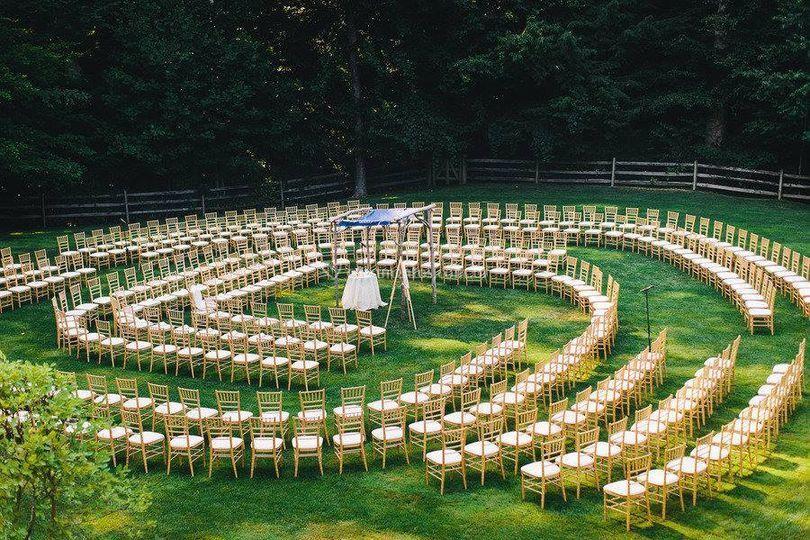 Cerimônia em forma de infinito