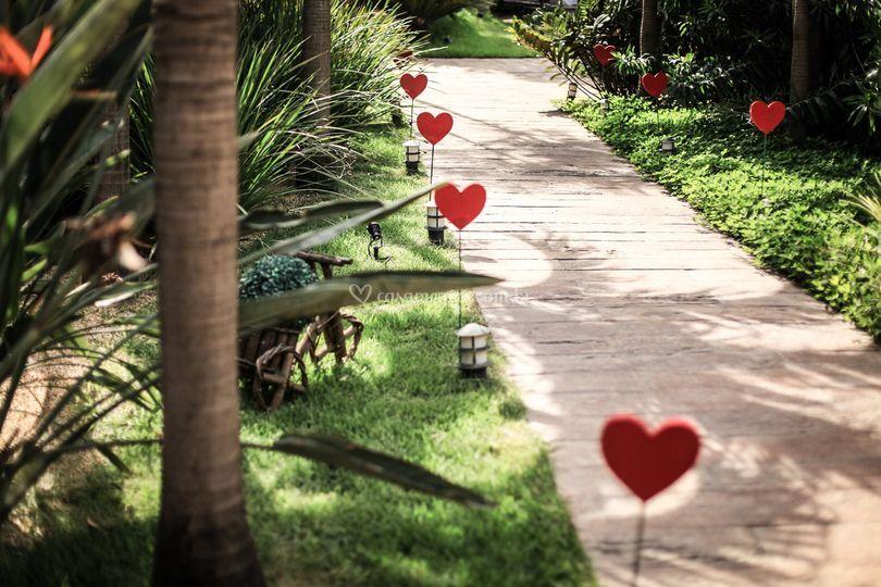 Entrada com corações