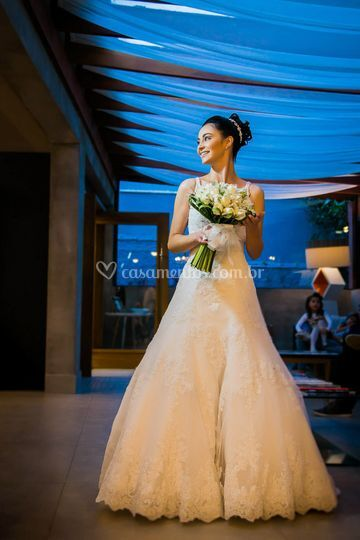 Making of, a noiva no salão.
