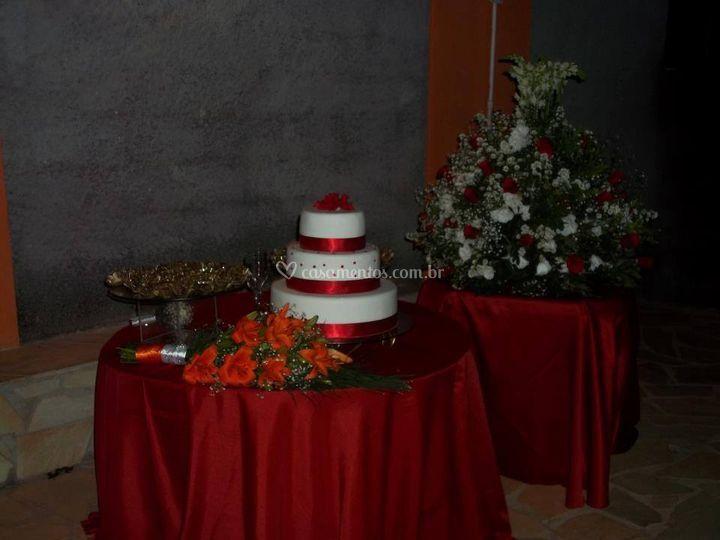 Casamento, mesa de bolo