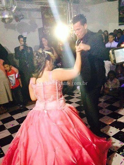 Pista de dança no salão acusti
