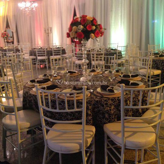 Decoração mesa convidados