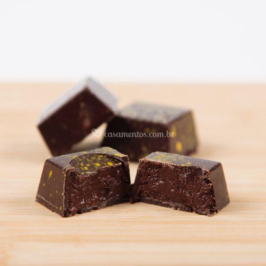 Bombom de chocolate 70% cacau