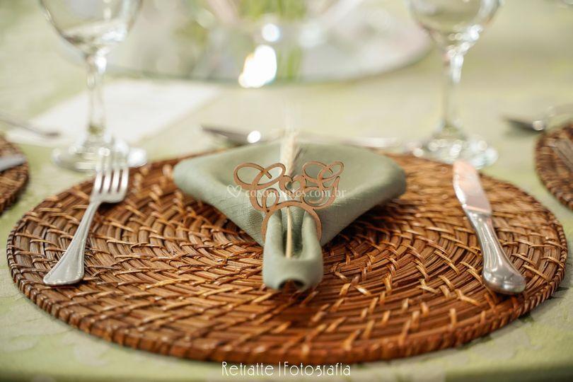 Detalhes mesa convidados