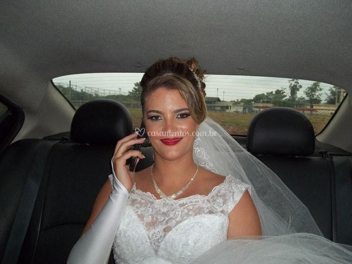 A noiva contente