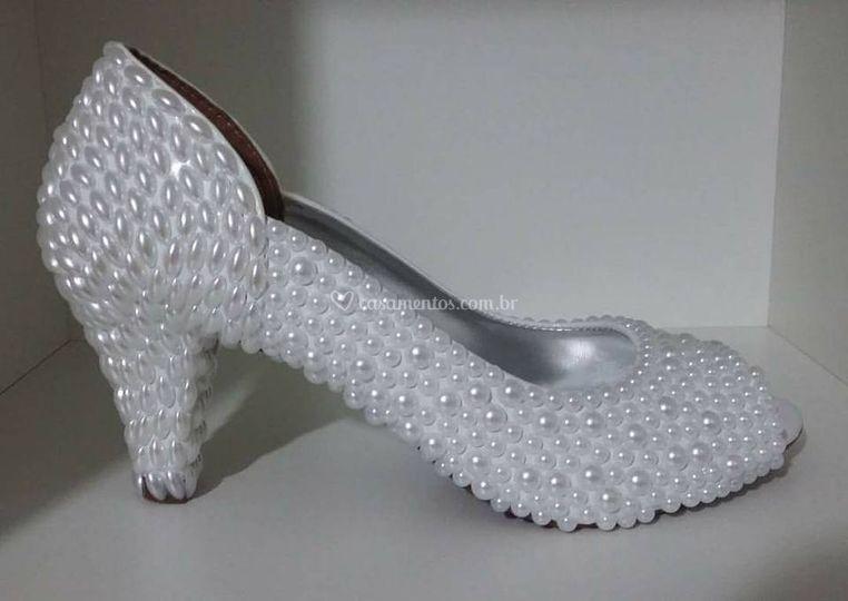 Sapatos em perolas